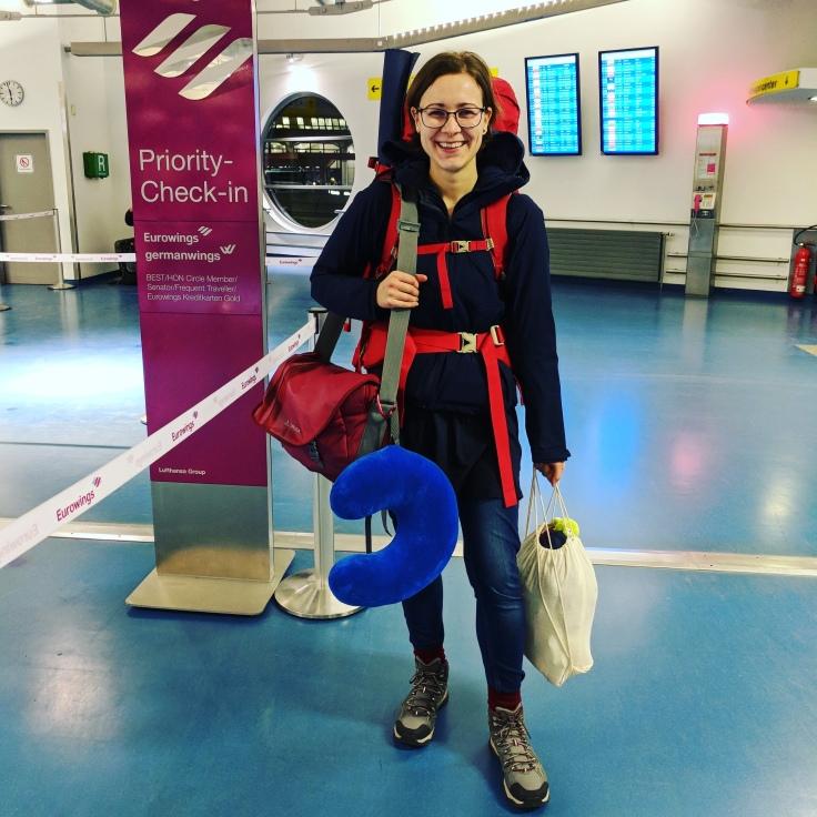 Mein Reisegepäck und ich.