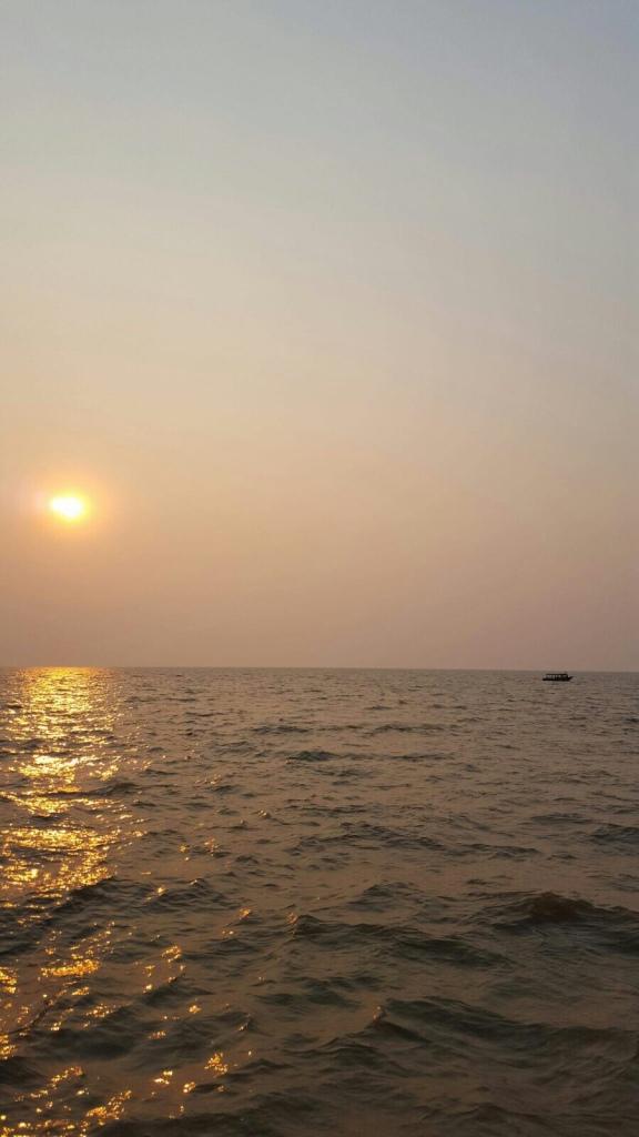 Sonnenuntergang Kambodscha