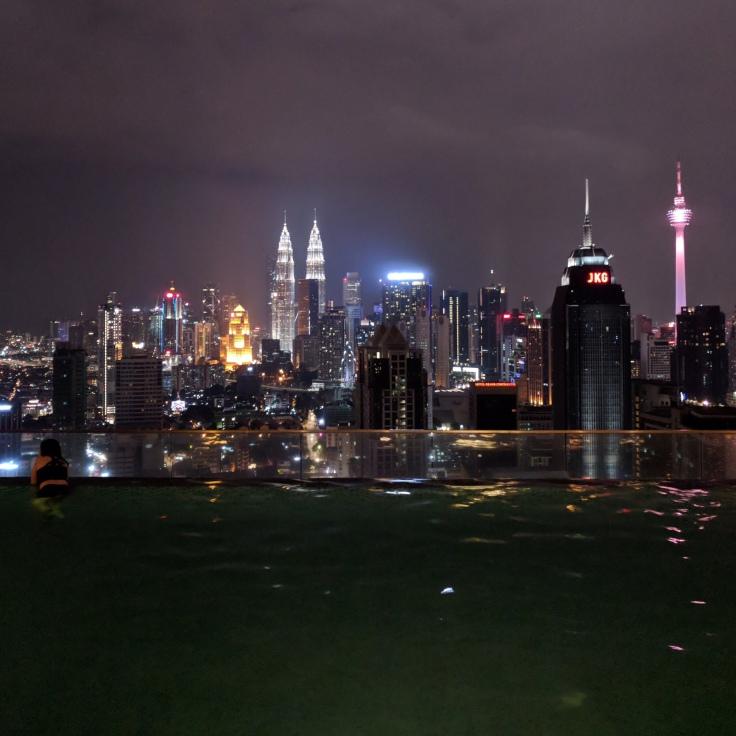 Skyline of Kuala Lumpur at Night